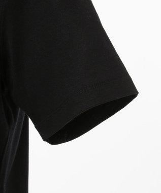 CK CALVIN KLEIN MEN リヨセルコットンジャージー メッセージグラフィック Tシャツ ブラック系5