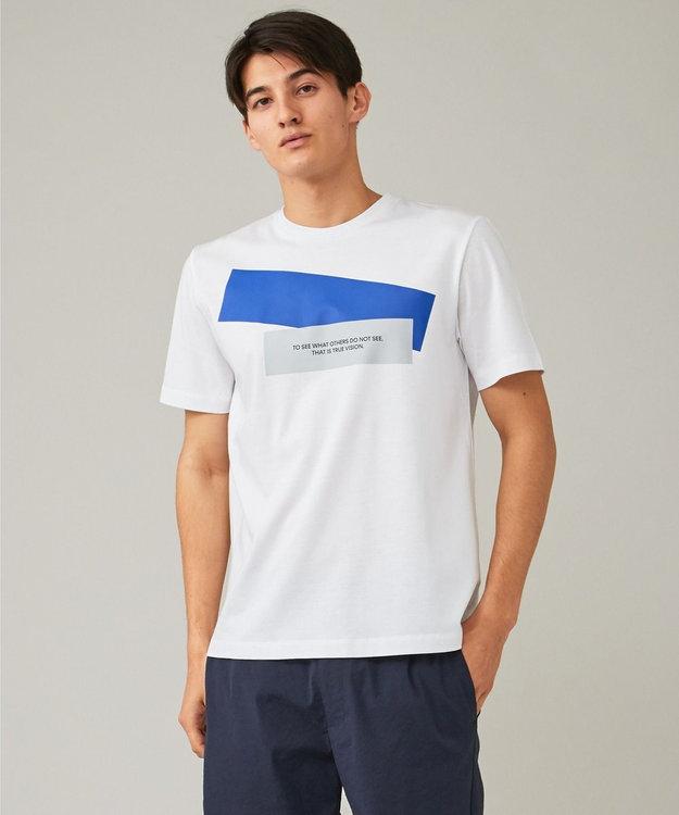 CK CALVIN KLEIN MEN リヨセルコットンジャージー メッセージグラフィック Tシャツ