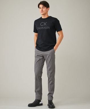 CK CALVIN KLEIN MEN 【新田真剣佑さん着用】リフレクトシグネチャーロゴ Tシャツ ブラック系