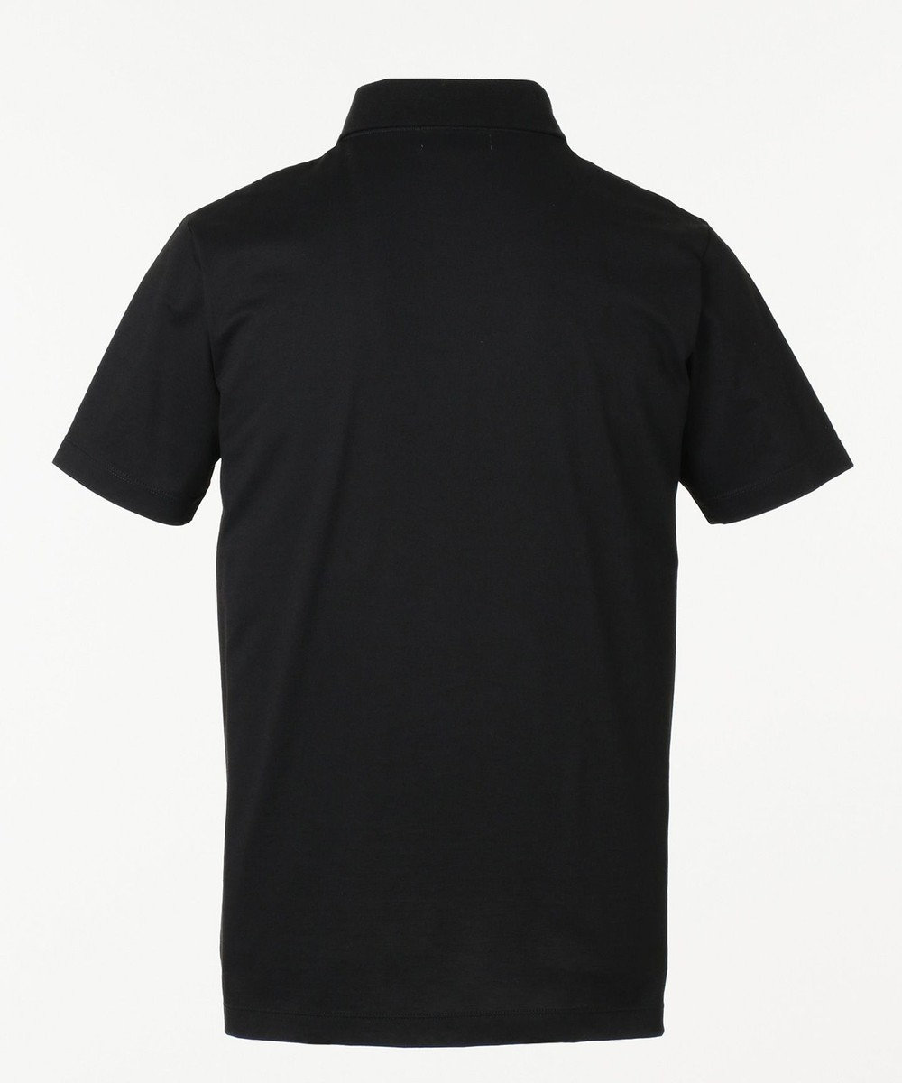 CK CALVIN KLEIN MEN メッシュレイヤー クールピケ ポロシャツ ブラック系