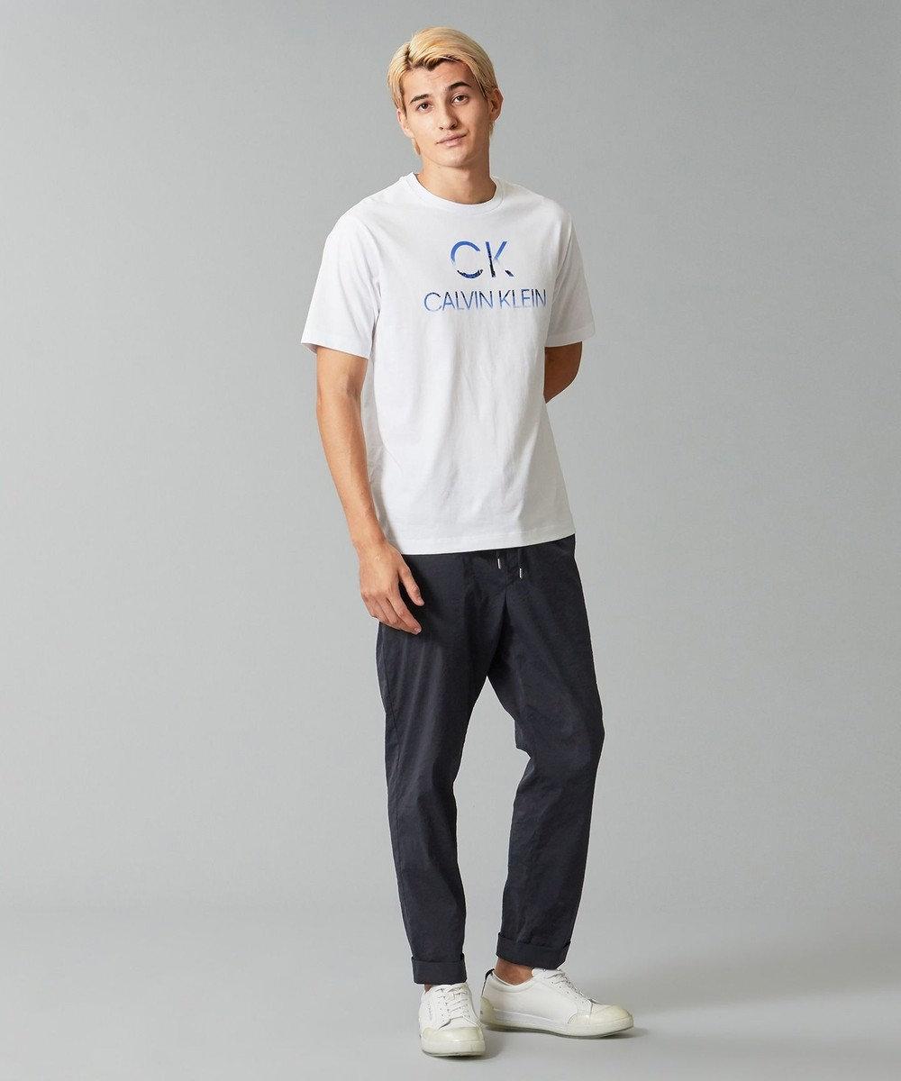 CK CALVIN KLEIN MEN 【WEB限定】【UNISEX】TOKYOスカイライン シンボルロゴ Tシャツ ホワイト系