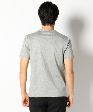 CK CALVIN KLEIN MEN 【2017春のWEB限定】CalvinロゴTシャツ カットソー (縦ロゴ) ライトグレー系
