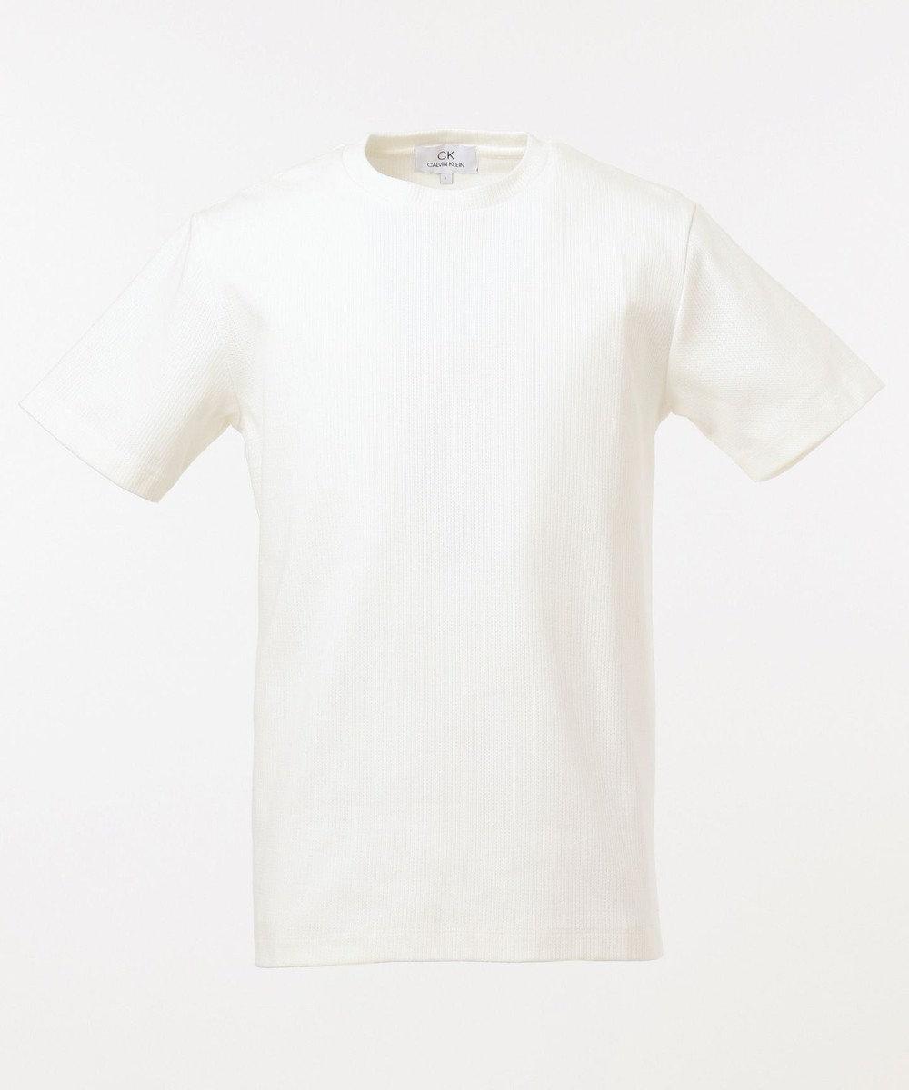 CK CALVIN KLEIN MEN 【こだわり素材】アーバンメッシュ Tシャツ ホワイト系