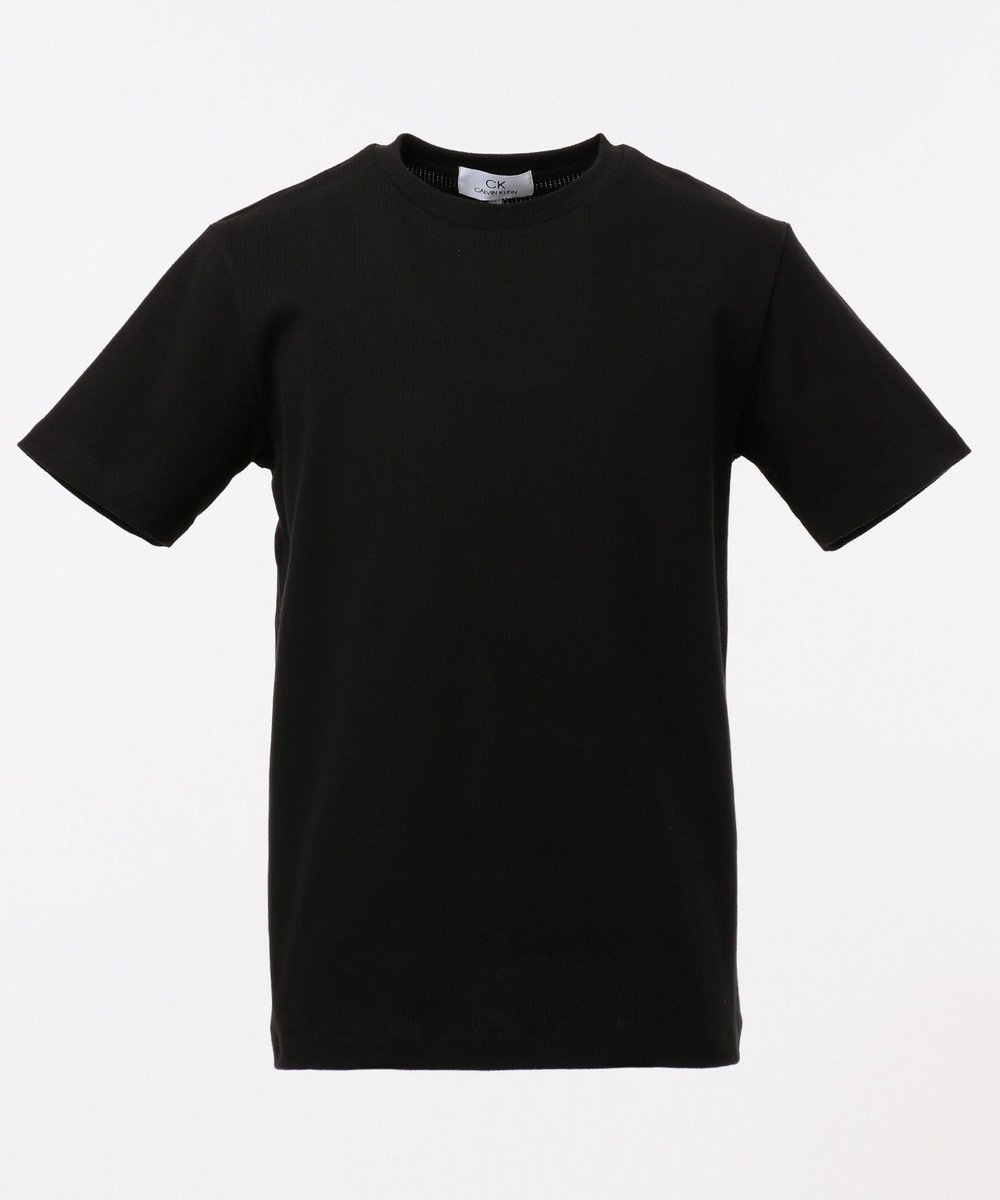 CK CALVIN KLEIN MEN 【こだわり素材】アーバンメッシュ Tシャツ ブラック系