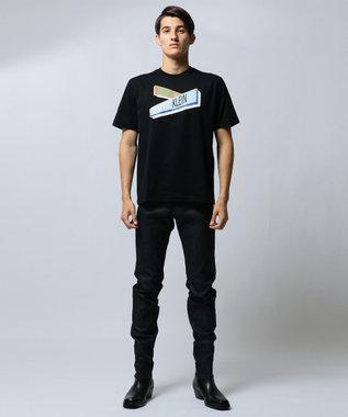 CK CALVIN KLEIN MEN 【ロゴ】ガイドサイン グラフィック Tシャツ ブラック系5