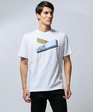 CK CALVIN KLEIN MEN 【ロゴ】ガイドサイン グラフィック Tシャツ ホワイト系5