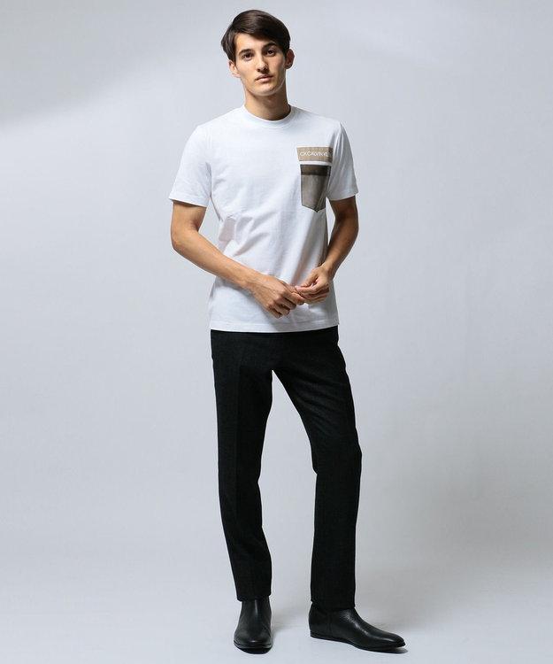 CK CALVIN KLEIN MEN 【ロゴ】ビニールポケット ロゴ Tシャツ