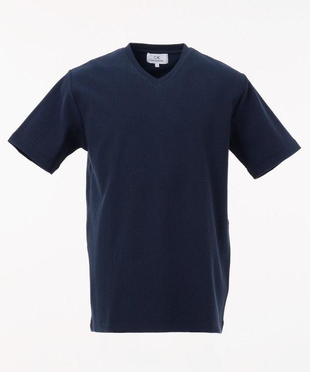 CK CALVIN KLEIN MEN 【定番】リップルグログランストライプ Tシャツ