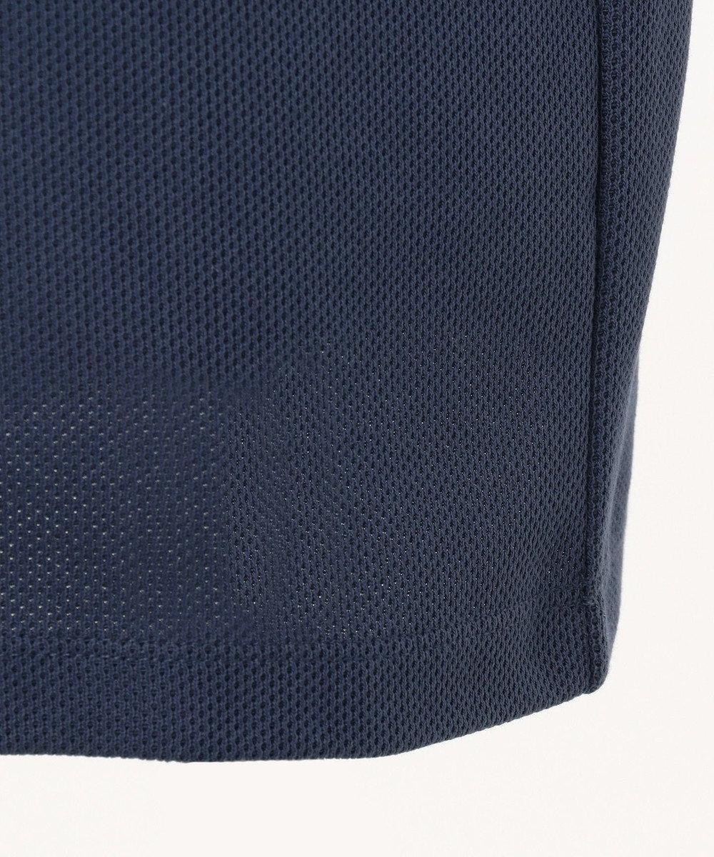 CK CALVIN KLEIN MEN 【ロゴ入り】シャンブレーメッシュチャンキーピケ ポロシャツ ネイビー系