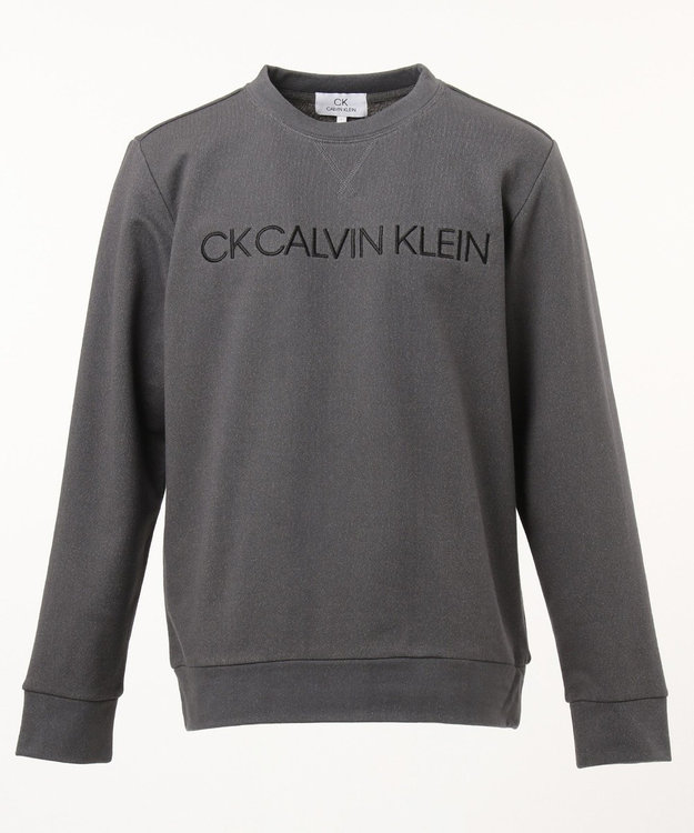 CK CALVIN KLEIN MEN コンプレッションテリー EMBロゴ スウェット グレー系