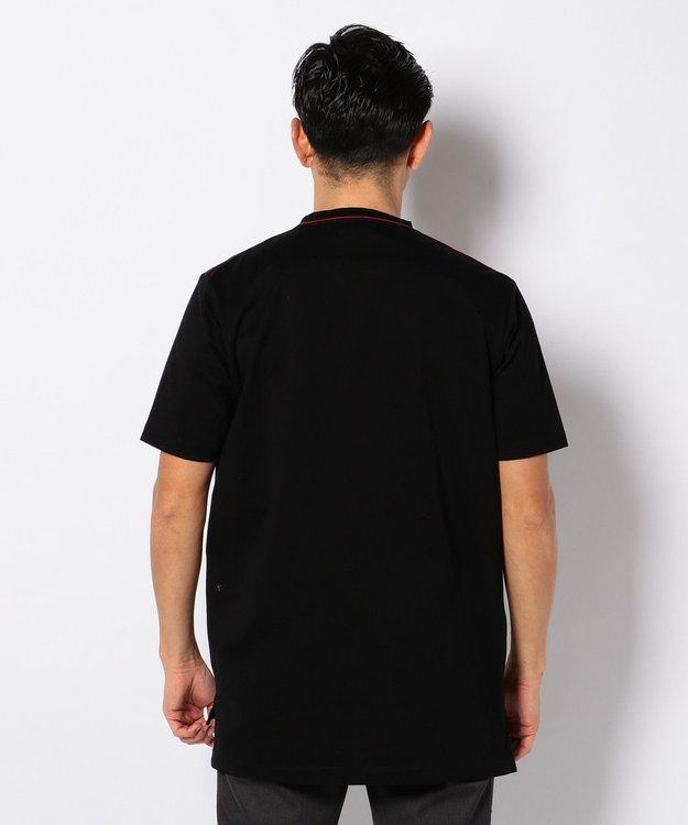 CK CALVIN KLEIN MEN EMBラインパラレルドジャージー Tシャツ
