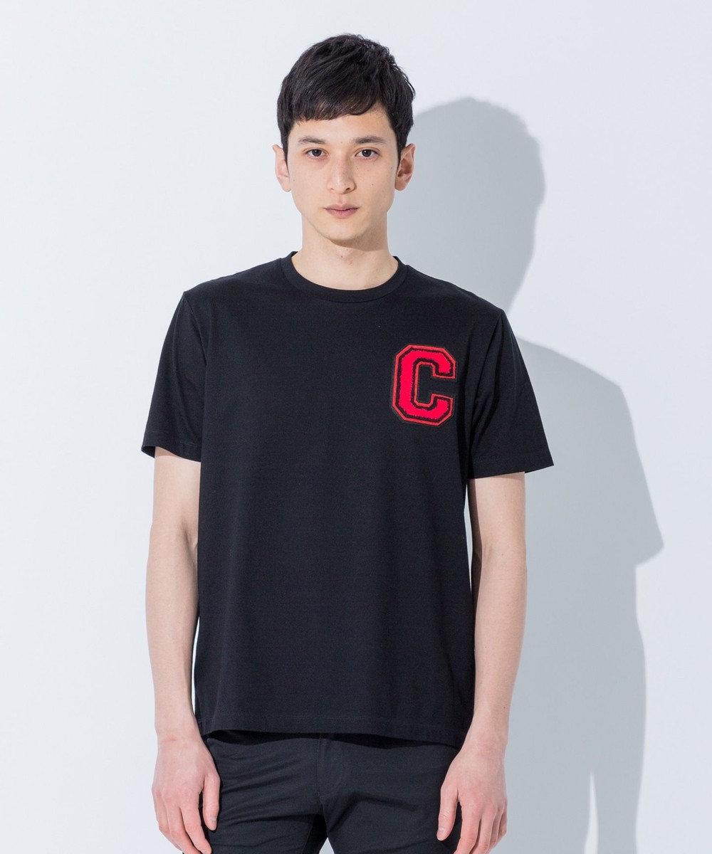 CK CALVIN KLEIN MEN 【夏のおすすめTシャツ】Cワッペンコットン Tシャツ ブラック系