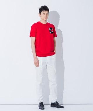 CK CALVIN KLEIN MEN 【夏のおすすめTシャツ】Cワッペンコットン Tシャツ レッド系