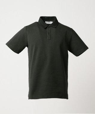 CK CALVIN KLEIN MEN 【夏のおすすめポロシャツ】シャンブレーメッシュピケ ポロシャツ ブラック系
