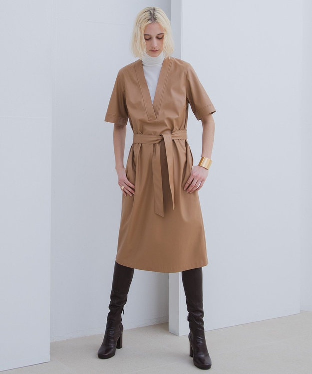 BEIGE, HITHE / ハイネックカットソー