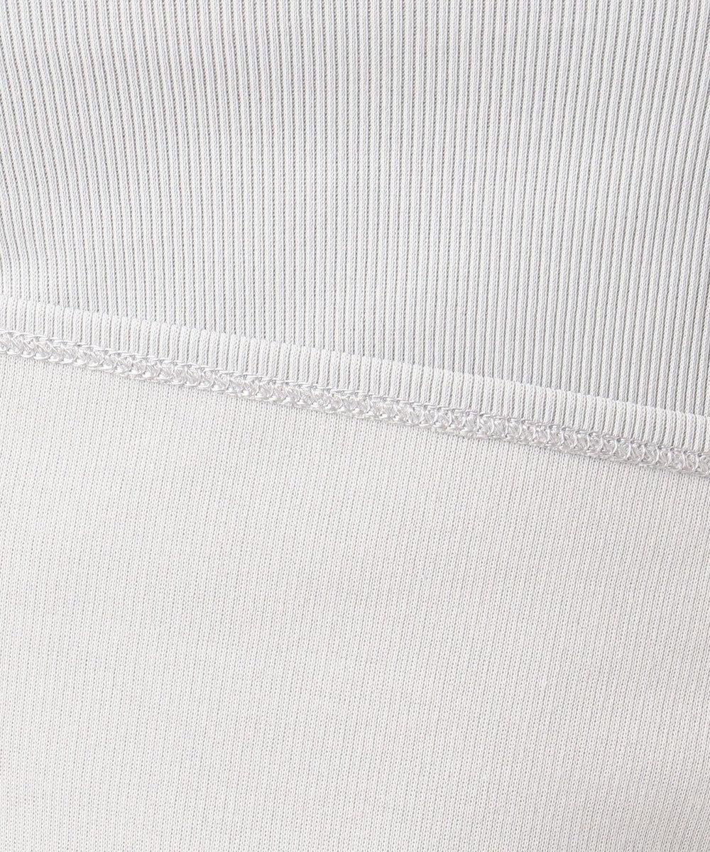 ICB L 【洗えるソフトタッチシリーズ】Pique Jersey ボートネックカットソー ライトグレー系