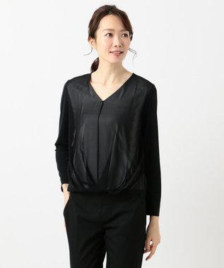 ICB L Fabric Combi Jersey ドレープカットソー ブラック系