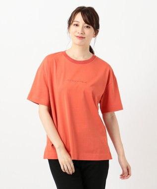 ICB Organic Cotton ロゴカットソー オレンジ系