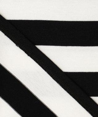 ICB L Border カットソー ホワイト×ブラック