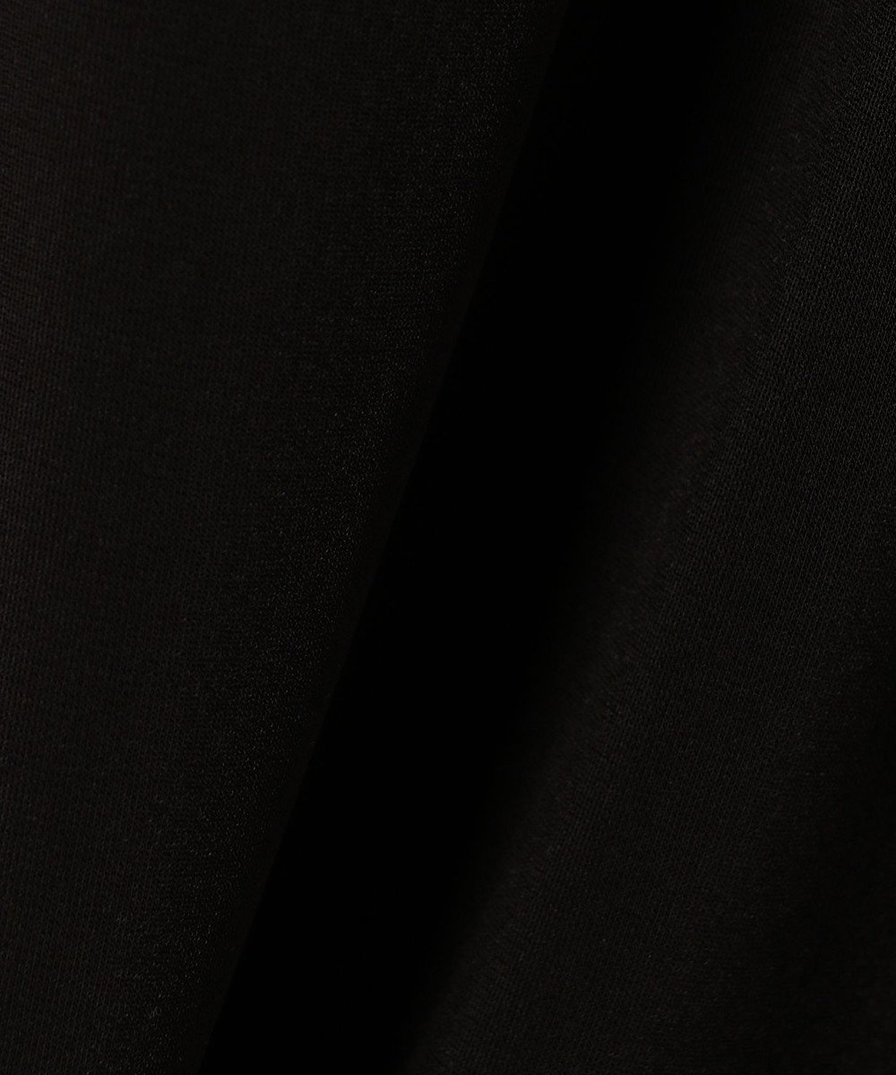 ICB L 【洗える】Triacetate Ponte カットソー ブラック系