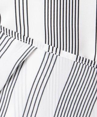 ICB 【洗える】Crossed Stripe 半袖カットソー ブラック系7