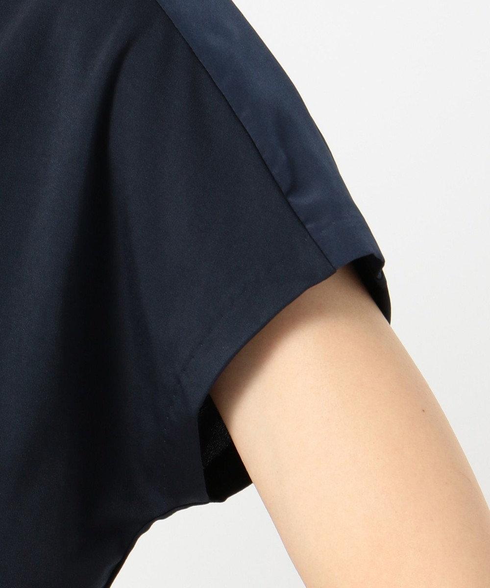 ICB L Triacetate Dry Smooth 半袖カットソー ネイビー系