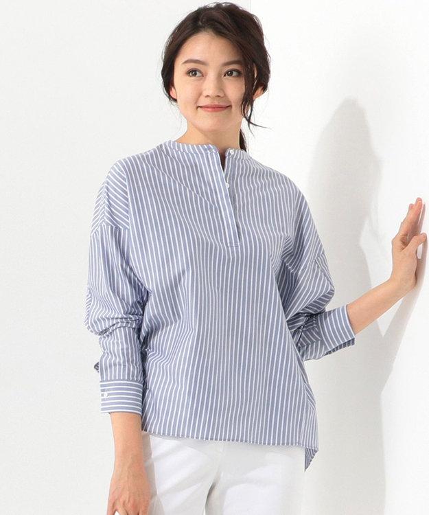 ICB 【洗える】Royal Cool ノーカラー シャツ