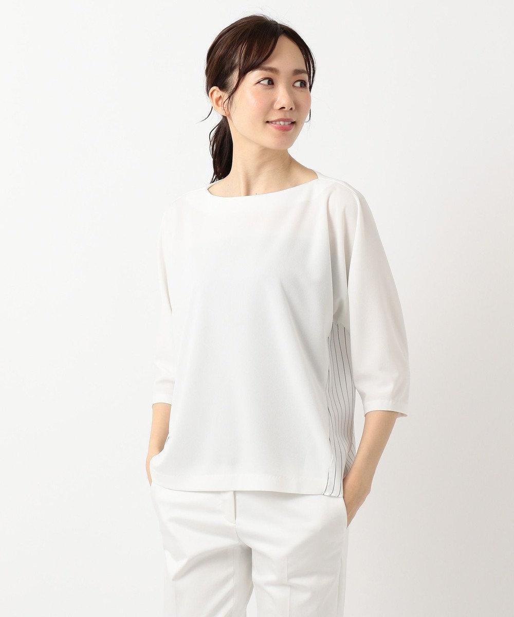 ICB L Fabric Combi Jersey 七分袖カットソー ホワイトボーダー系