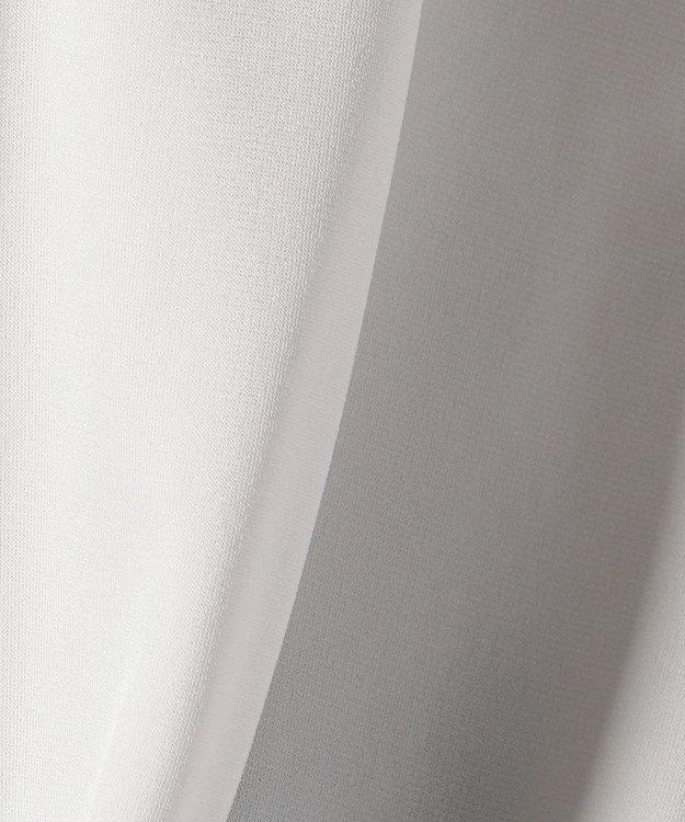 ICB 【洗える!】Triacetate Ponte カットソー ライトグレー系