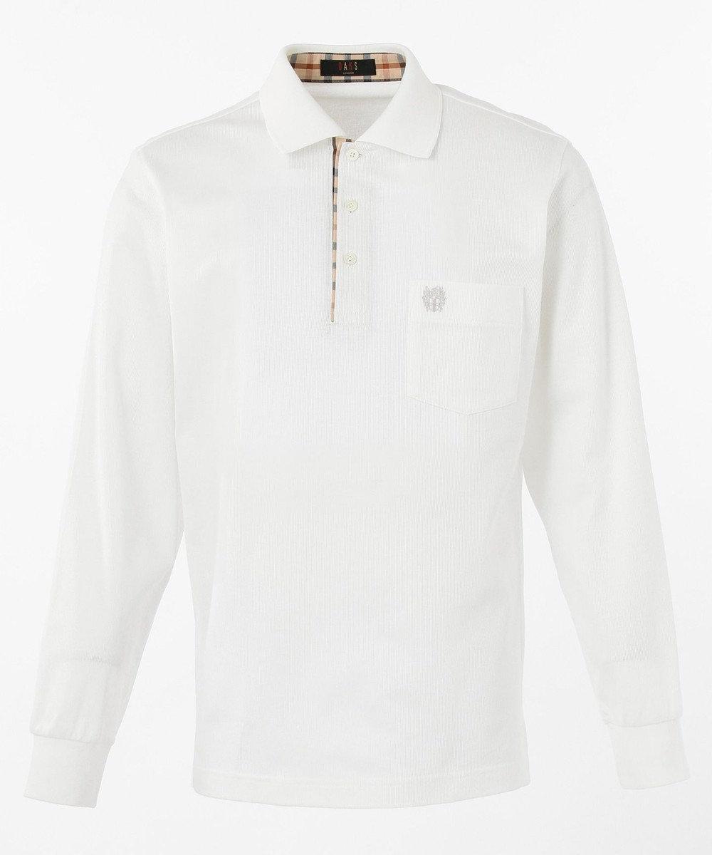 DAKS 【定番】スーピマピケ ポロシャツ ホワイト系