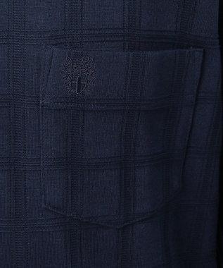 DAKS 【125周年】シャドーチェック クルーズ ポロシャツ ネイビー系