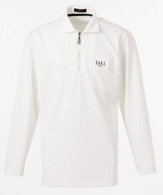 DAKS GOLF 【MEN】DAKSバイアスロゴ 長袖ポロシャツ ブラック系