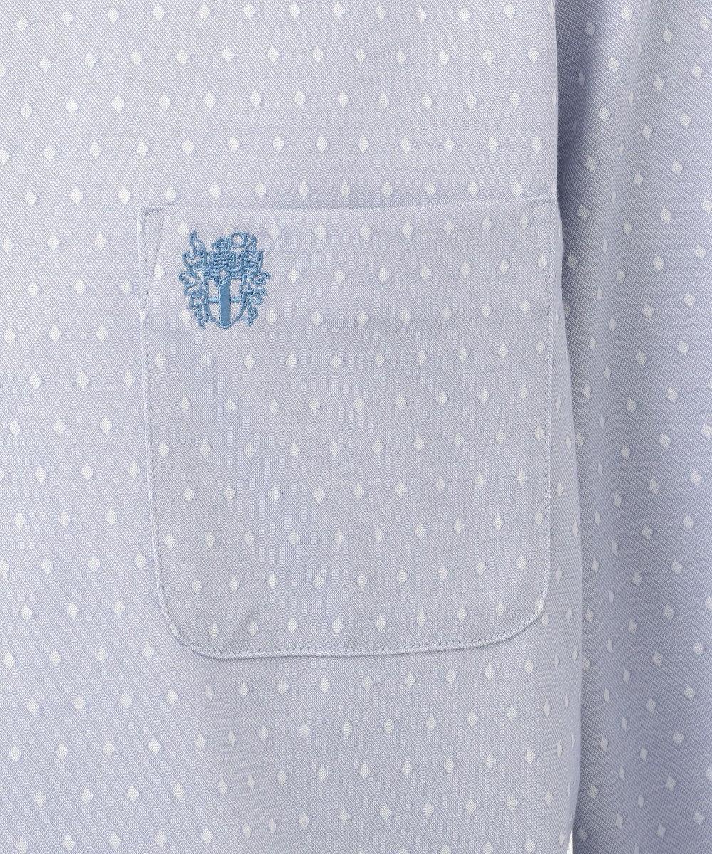 DAKS GOLF 【MEN】ダイヤ小紋モクロディー ポロシャツ サックスブルー系8