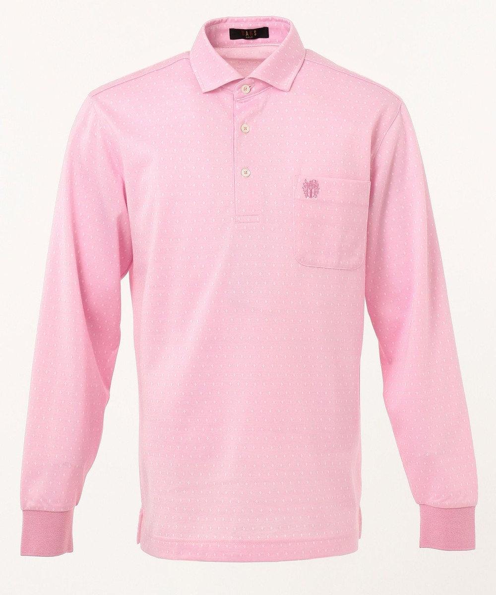 DAKS GOLF 【MEN】ダイヤ小紋モクロディー ポロシャツ ピンク系8