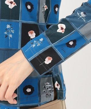 DAKS GOLF 【WOMEN】パッチワークフローラルジャージ ハイネックカットソー ネイビー系5