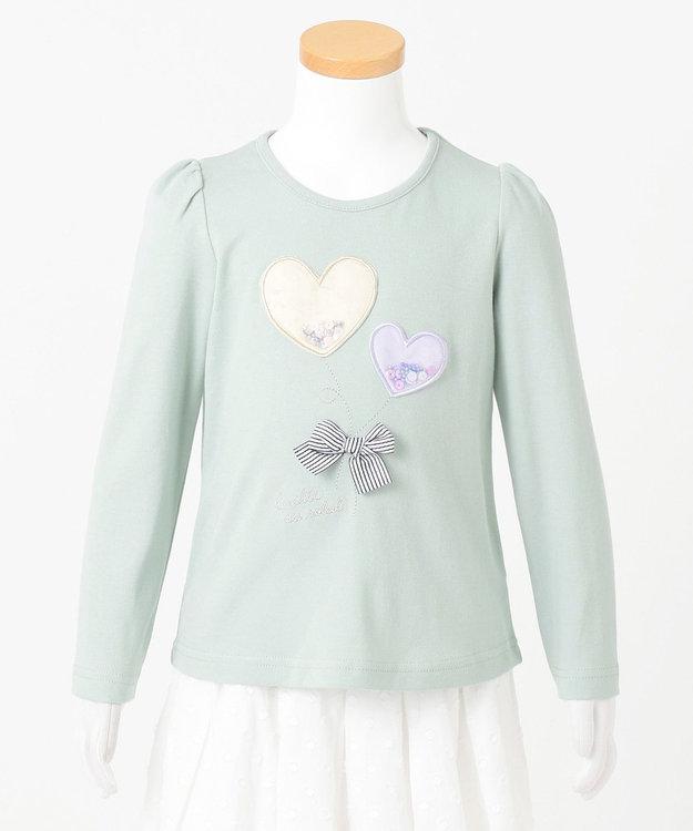 any FAM KIDS 【90-130cm】ビーズ入り風船モチーフ 長袖Tシャツ