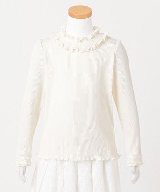 any FAM KIDS 【90-130cm】シャーリング 長袖トップス ホワイト