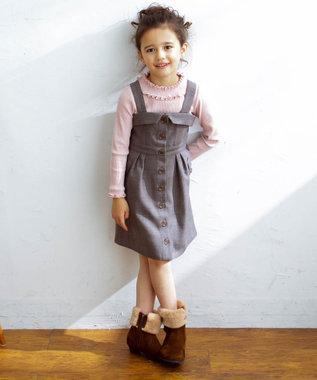 any FAM KIDS 【90-130cm】シャーリング 長袖トップス ピンク