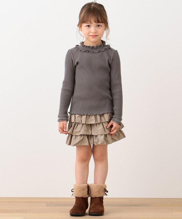 any FAM KIDS 【90-130cm】シャーリング 長袖トップス