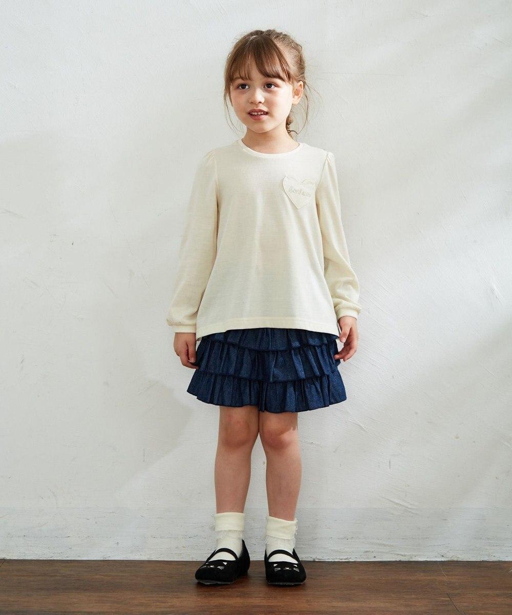 any FAM KIDS 【90‐130cm】前後差有り Aライントップス アイボリー系
