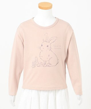 any FAM KIDS 【90-130cm】オーガビッツ 長袖Tシャツ ピンク(うさぎ)