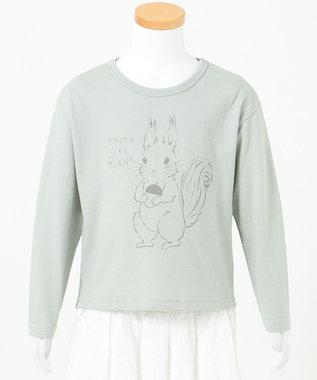 any FAM KIDS 【90-130cm】オーガビッツ 長袖Tシャツ ミント(リス)
