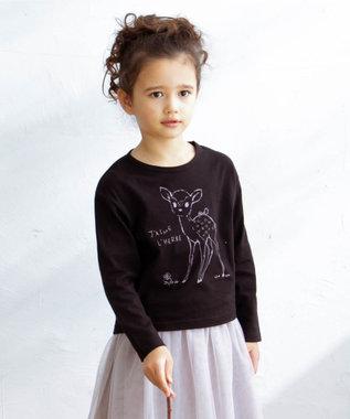 any FAM KIDS 【90-130cm】オーガビッツ 長袖Tシャツ ブラック(バンビ)