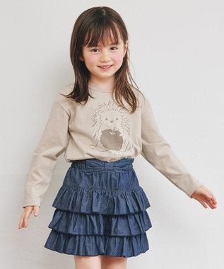 any FAM KIDS 【90-130cm】オーガビッツ 長袖Tシャツ アイボリー(ハリネズミ)