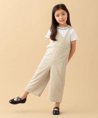 any FAM KIDS ニコプチ4月号掲載【90-130cm】リボンモチーフ 半袖Tシャツ ホワイト系