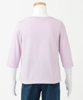 any FAM KIDS 【100-130cm】ミラクルスパンコール 7分袖Tシャツ ライラック系