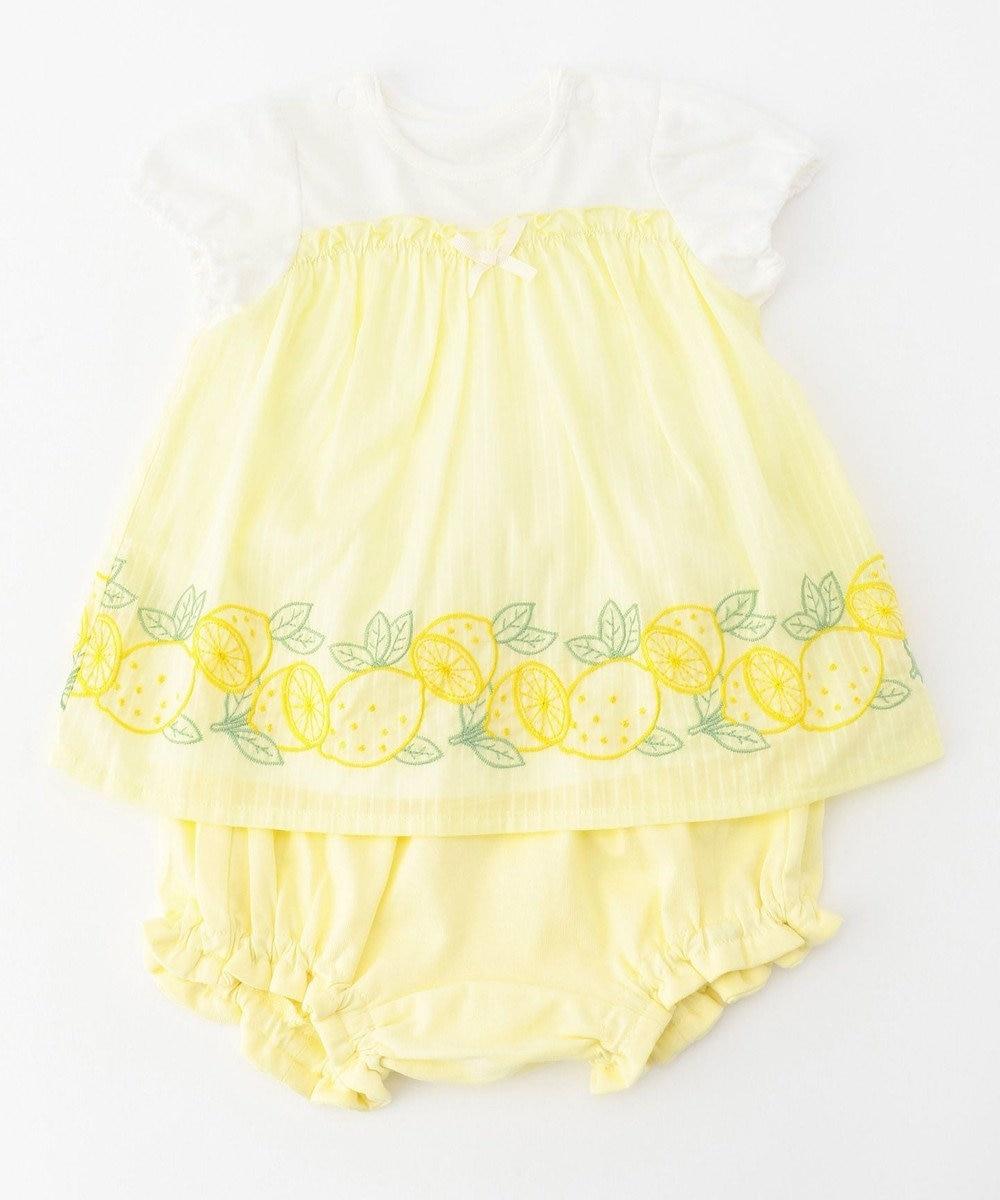 any FAM KIDS 【baby/70-80cm】フルーツ刺繍 セットアップ イエロー系