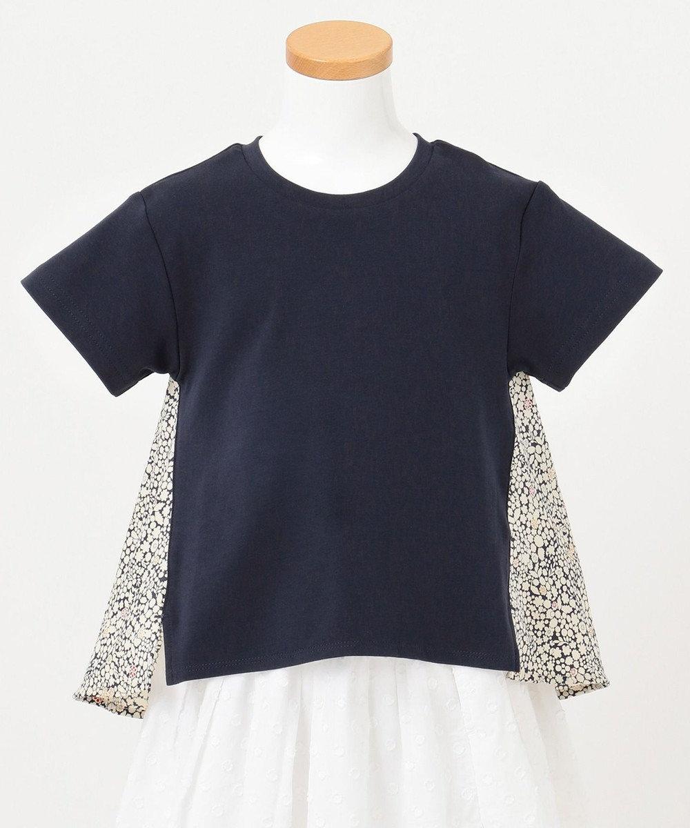any FAM KIDS 【親子でお揃い/90-130cm】LIBERTY プリントフレアTシャツ ネイビー系3