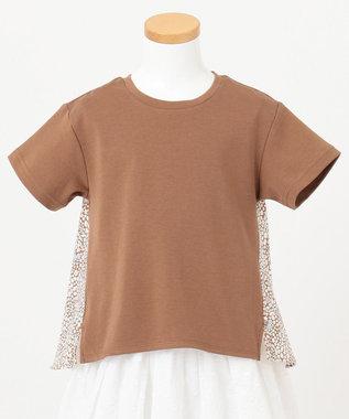 any FAM KIDS 【親子でお揃い/90-130cm】LIBERTY プリントフレアTシャツ ブラウン系3