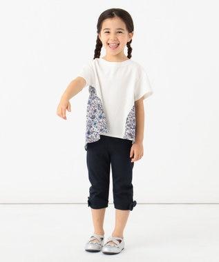 any FAM KIDS 【親子でお揃い/90-130cm】LIBERTY プリントフレアTシャツ ネイビー系5
